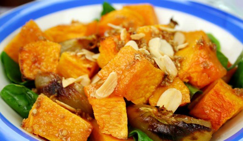Tupper de temporada: ensalada de calabaza y espinacas