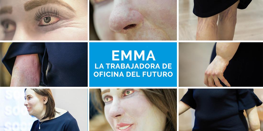 'Emma', el maniquí que muestra las futuras secuelas físicas del trabajador de oficina