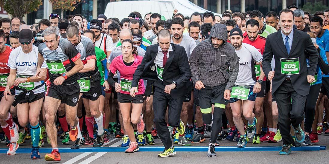 Las empresas se apuntan al running