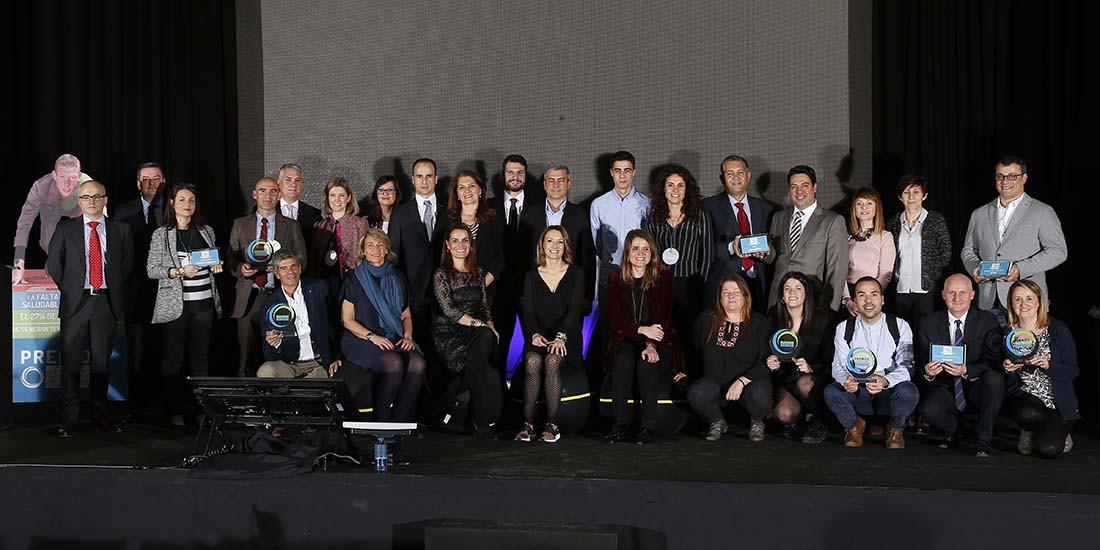 Ganadores de los II Premios Mi Empresa es Saludable