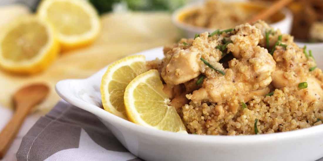 Renueva tu tupper: salteado de pollo al limón con quinoa