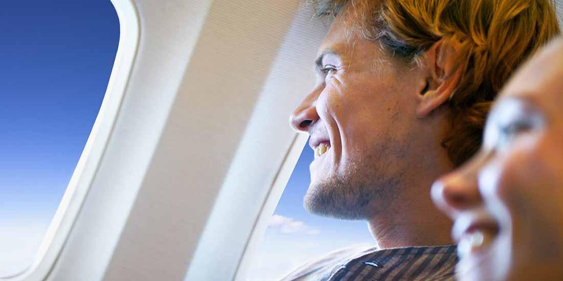 Haz que tu viaje en avión sea más saludable